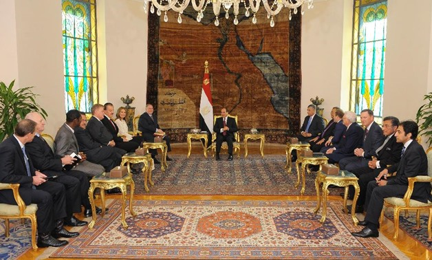 President Abdel Fatah al-Sisi meets with a delegation of U.S. Evangelical heads – Press Photo