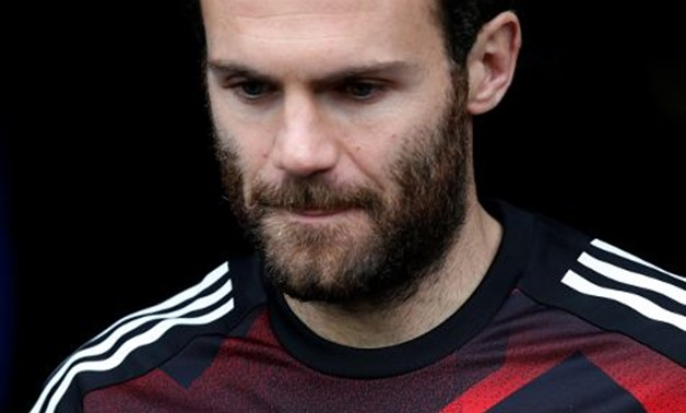 Manchester United's Juan Mata before the match REUTERS