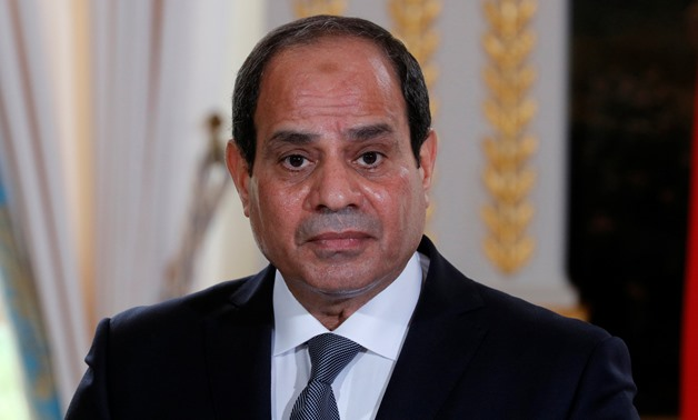 Egyptian President Abdel Fattah al-Sisi attends a news conference at the Elysee Palace in Paris, France -  REUTERS/Philippe Wojazer