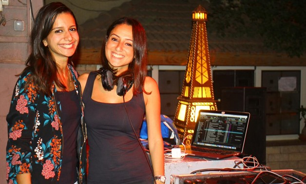 DJ . Dina Akladios and an attendee at the Orange Touch event - Photo by Egypt Today/Mahmoud Hassaballah