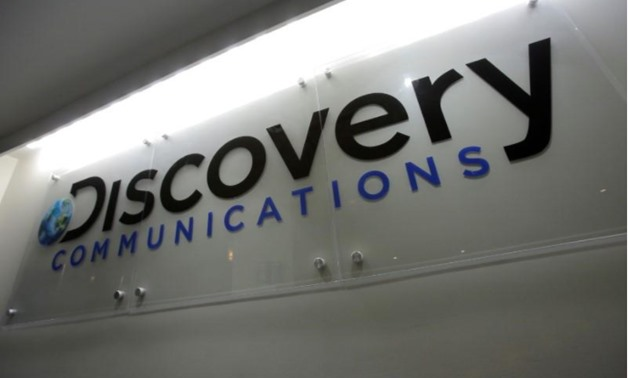 The Discovery Communications logo is seen at their office in Manhattan, New York, U.S., August 1, 2016 -  REUTERS/Andrew Kelly