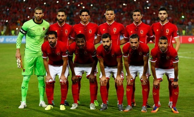 Al Ahly players pose for the pre match photograph - REUTERS