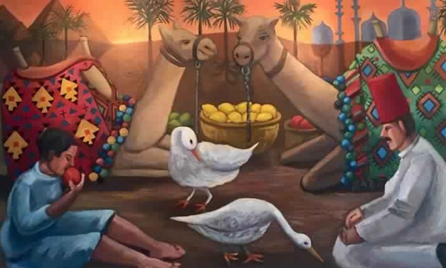 """Painting by Vicky Tesmer """"A Day in Egypt"""" (Photo courtesy of Vicky Tesmer official website)"""