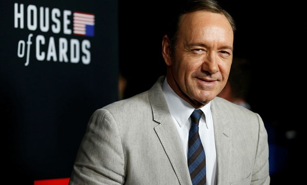 Cast member Spacey poses at the premiere for the second. REUTERS