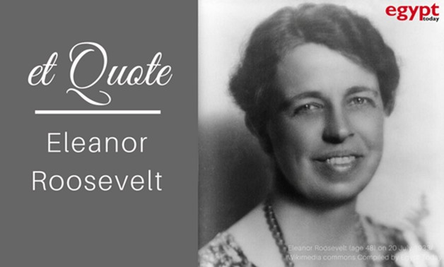 Eleanor Roosevelt (age 48) on 20 July 1933/ Wikimedia commons Compiled by Egypt Today