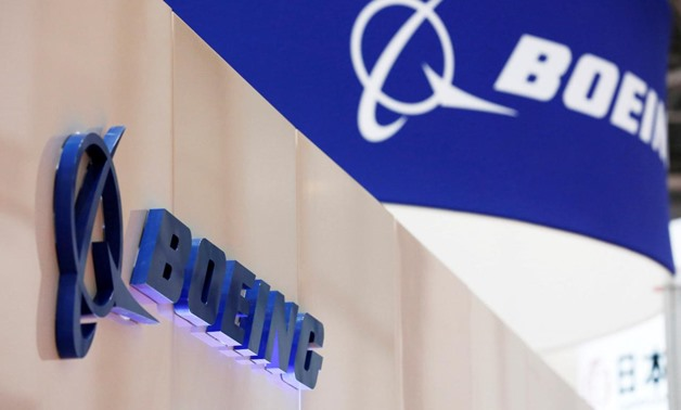 Boeing's logo is seen during Japan Aerospace 2016 air show in Tokyo, Japan, October 12, 2016. REUTERS/Kim Kyung-Hoon