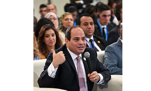 President Abdel Fatah al Sisi during his participation at WYF- Press photo