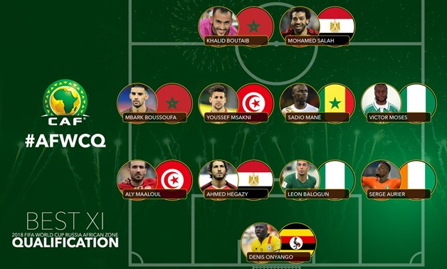 The Best XI players at the World Cup 2018 qualifiers - African zone, CAF official twitter account