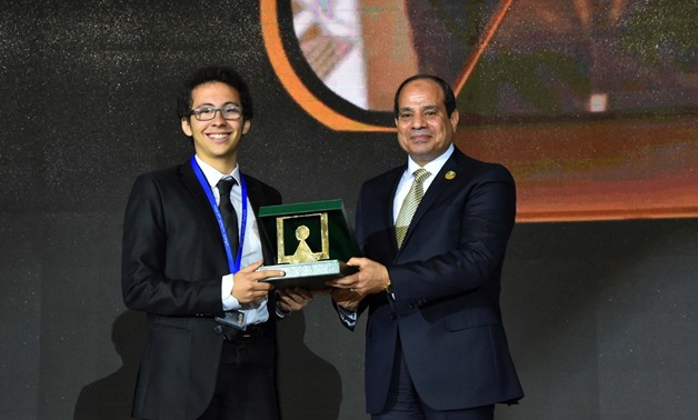 Meet Mahmoud Wael World S Smartest Kid Honored By Sisi Egypttoday