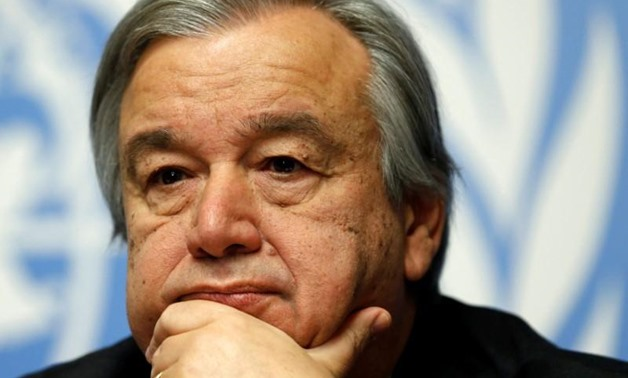 Antonio Guterres, High Commissioner for Refugees, pauses during a news conference for the launch of the Global Humanitarian Appeal 2016 at the United Nations European headquarters in Geneva, Switzerland December 7, 2015. REUTERS/Denis Balibouse/File photo