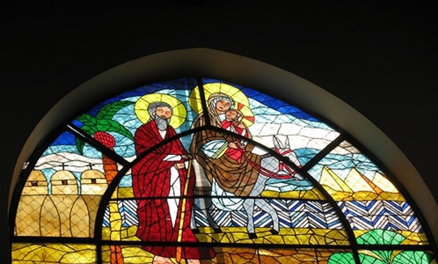 Stained glass art in Maadi church – Memphis tours