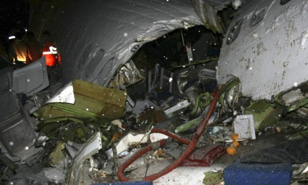 The wreckage of the Iranian Boeing 727 airplane is pictured after it crashed near Urumiyeh in East Azermaijan province about 946 km (588 miles) northwest of Tehran January 9, 2011. PHOTO: REUTER