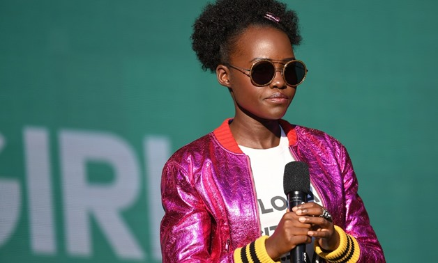 This file photo taken on September 23, 2017 shows Lupita Nyong'o speaking onstage during the 2017 Global Citizen Festival in Central Park to End Extreme Poverty by 2030 at Central Park in New York City. (AFP/Angela Weiss)