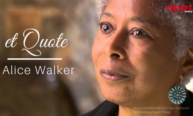 American award winner author Alice Walker- May 31, 2012 – Courtesy of MAKERS/YouTube thumbnail Compiled by Egypt Today