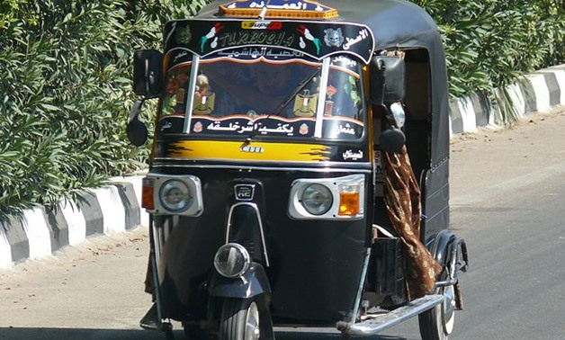 A Tuk tuk in Egypt- Photo courtesy of Creative Commons/ Ad Meskens