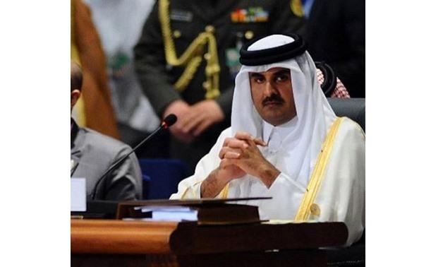 FILE – Qatar's Emir Sheikh Tamim bin Hamad Al Thani