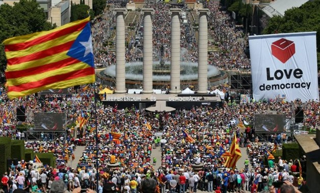 A general view of the pro-independence rally in Barcelona, Spain June 11, 2017. REUTERS/Albert Gea
