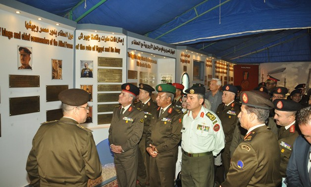 Egyptian military officers commemorate Egypt's participation in WWI. November 12, 2017 - Official page of Armed Forces spokesperson
