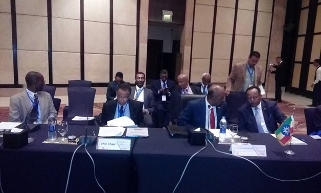 Tripartite meeting between Water and Irrigation Ministers between Egypt, Sudan, and Ethiopia in Cairo- press photo