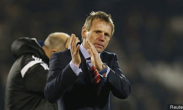 Nottingham Forest manager Stuart Pearce applauds the fans at the end of the match, Reuters.