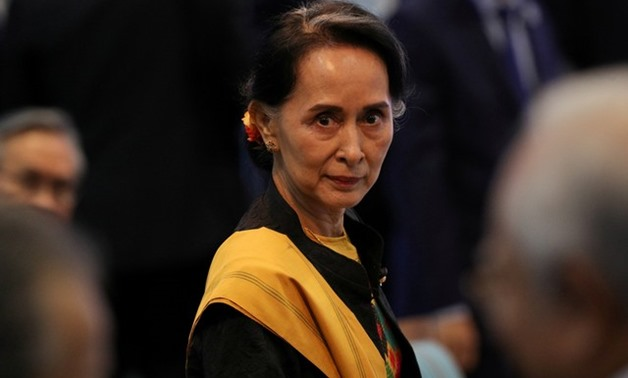 Myanmar State Counselor Aung San Suu Kyi attends the opening session of the 31st ASEAN Summit in Manila, Philippines, November 13, 2017. REUTERS/Athit Perawongmetha TPX IMAGES OF THE DAY