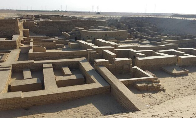 Minister of Antiquities Khaled al-Anani embarked on an inspection tour at the archaeological site Umm al-Breijat – File Photo
