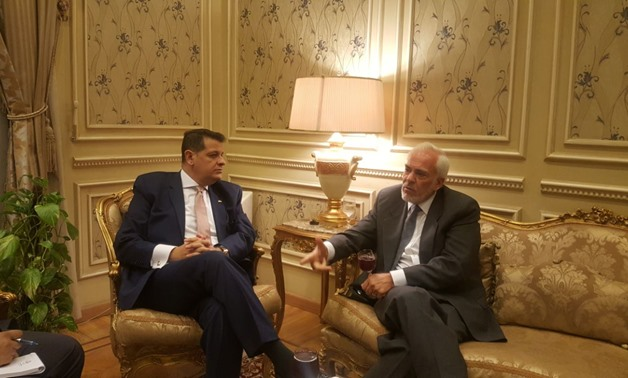 Chief of Foreign Affairs Committee at the Egypt's Parliament MP Tarek Radwan met on Monday with Greece ambassador to Cairo Michael Christos in Cairo - EGYPT TODAY