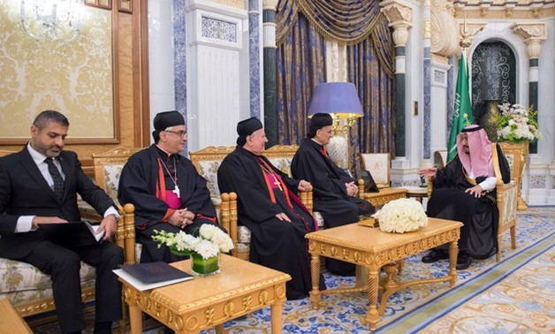Saudi Arabia's King Salman bin Abdulaziz Al Saud meets with Lebanese Maronite Patriarch Bechara Boutros Al-Rahi in Riyadh, November 14, 2017. Bandar Algaloud/Courtesy of Saudi Royal Court/Handout via REUTERS ATTENTION EDITORS - THIS PICTURE WAS PROVIDED B