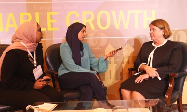 EBRD's Managing Director for SEMED Janet Heckman during an interview with Egypt Today, Cairo, Tuesday, November 14, 2017 - Egypt Today/Ahmed Marouf