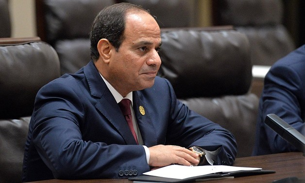 President of Egypt Abdel Fattah el-Sisi during his meeting with Vladimir Putin in Hangzhou September 5, 2016 - photo courtesy of kremlin - REUTERS