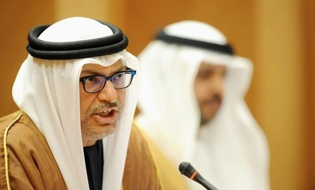 File - Foreign Minister of the United Arab of Emirate Anwar Gargash