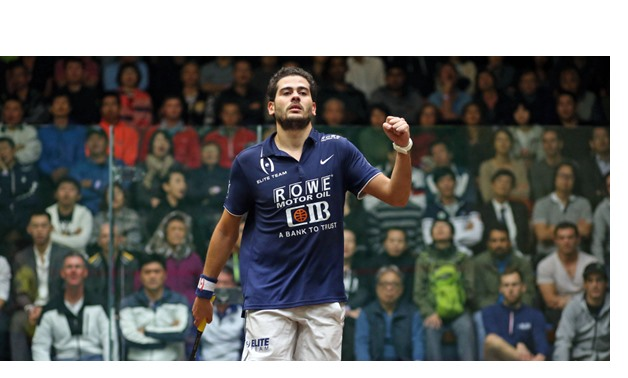 16-11 Egypt's Karim Abdel Gawad defeated his teammate Mohamed Abouelghar at 2017 Hong Kong Open quarter finals, Courtesy of psaworldtour