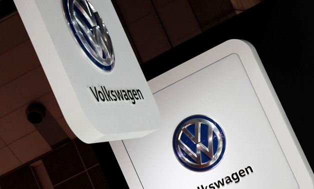 Volkswagen's logos are pictured at the 45th Tokyo Motor Show in Tokyo, Japan October 25, 2017. REUTERS/Kim Kyung-Hoon/File Photo