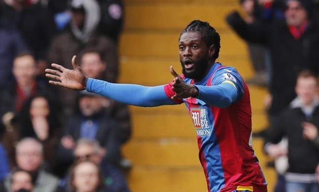 Crystal Palace v Liverpool - Barclays Premier League - Selhurst Park. Crystal Palace's Emmanuel Adebayor, March 6, 2016 - REUTERS