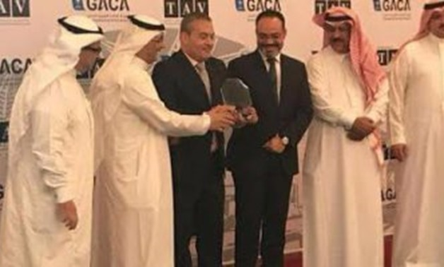 File - Medinah Inter Airport rewards EgyptAir Shield of Excellence