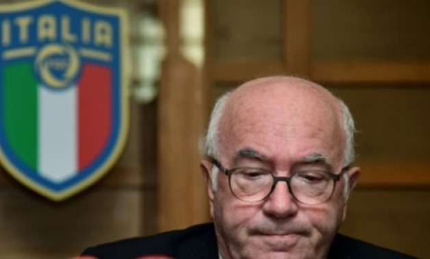 Italian Football Federation (FIGC) President Carlo Tavecchio resigned as Italy's World Cup qualifying fiasco saw the four-time champions miss the finals for the first time in 60 years - AFP