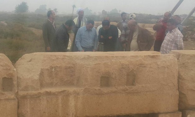 Inspection tour (Photo courtesy of Ministry of Antiquities)