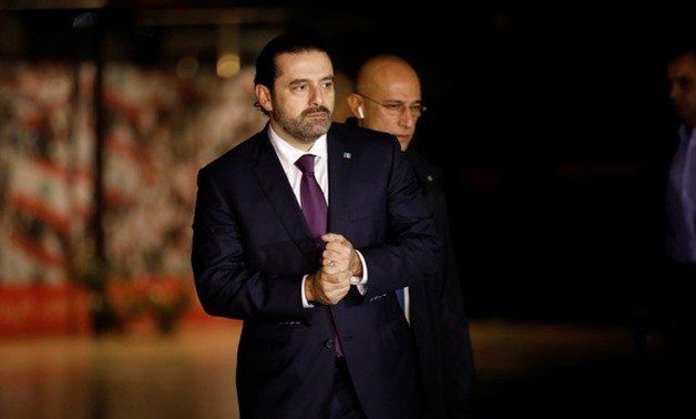 Saad al-Hariri, who announced his resignation as Lebanon's prime minister from Saudi Arabia, is seen at the grave of his father, assassinated former Lebanese prime minister Rafik al-Hariri, in downtown Beirut November 21, 2017.REUTERS/Jamal Saidi