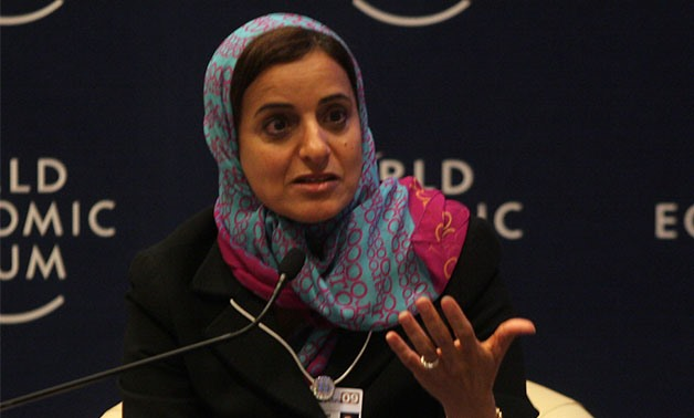 "Sheikha Lubna Al Qasimi, Minister of foreign Trade of United Arab Emirates, speaks during ""Women with a Buisness Impact"" session at the World Economic Forum on the Middle East at the Dead Sea, Jordan, Friday, May, 16, 2009- World Economic Forum/Wikimedia"