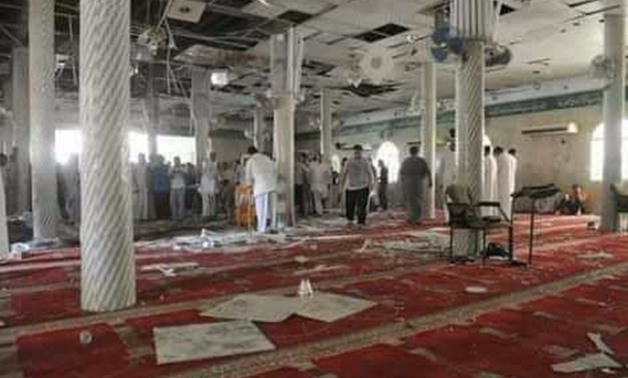 FILE - Al-Rawdah Mosque in Arish City, North Sinai, after it was targeted by terrorists during the Friday Prayers on November 24, 2017