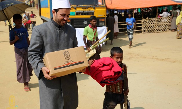 Al-Azhar delegation at a Rohingya refugee camp in Bangladesh - Pree photo