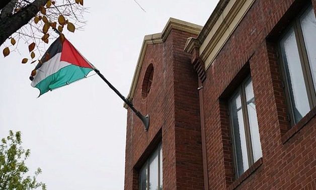 Palestinian flag in the United States - REUTERS