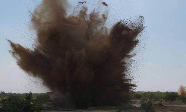 FILE - an explosion in North Sinai