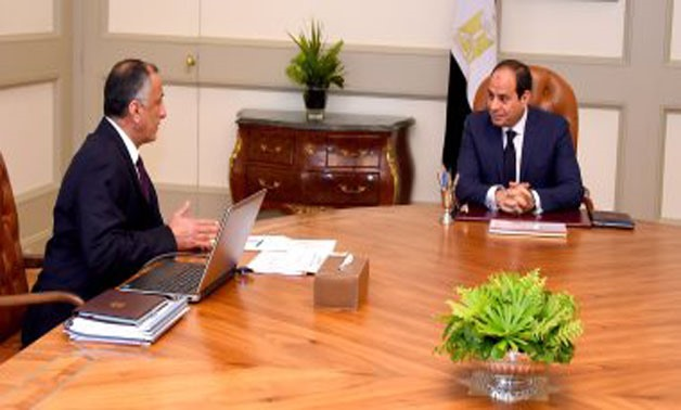 President Sisi during his meeting with CBE Governor Tarek Amer - Press photo