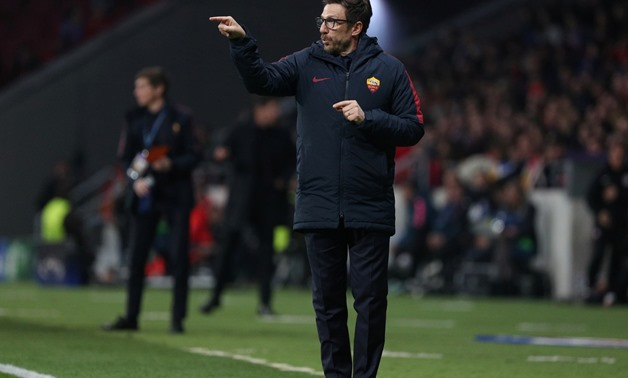 Soccer Football - Champions League - Atletico Madrid vs Roma - Wanda Metropolitano, Madrid, Spain - November 22, 2017 Roma coach Eusebio Di Francesco REUTERS/Sergio Perez
