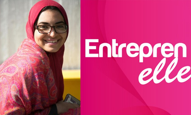 FILE - Rania Ayman, 25-year old Egyptian entrepreneur and founder of Entreprenelle platform to help women start their own businesses