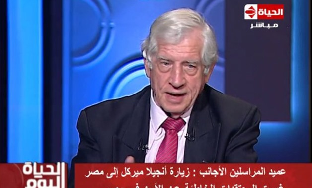 Chairman of Foreign Press Association (FPA) in Egypt, Volkhard Windfuhr, - Live screenshot from video