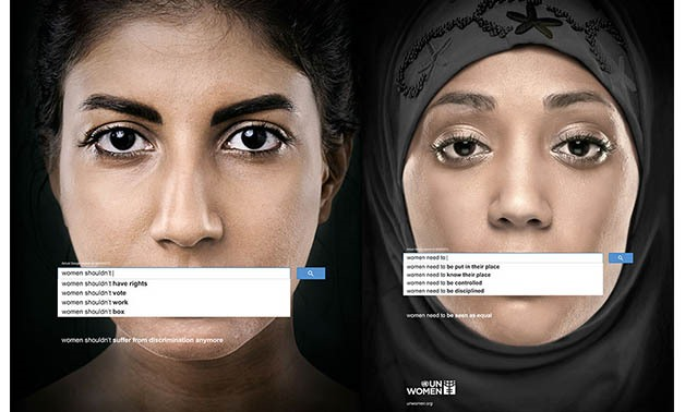 In 2013, UN Women launched a series of ads, using genuine Google searches dated March 9 to reveal the widespread prevalence of sexism and discrimination against women. The ads expose negative sentiments ranging from stereotyping as well as outright denia