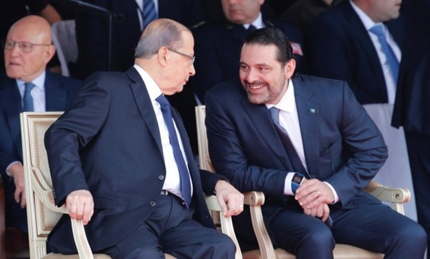 PM Saad al-Hariri with Lebanese President Michel Aoun - FILE PHOTO