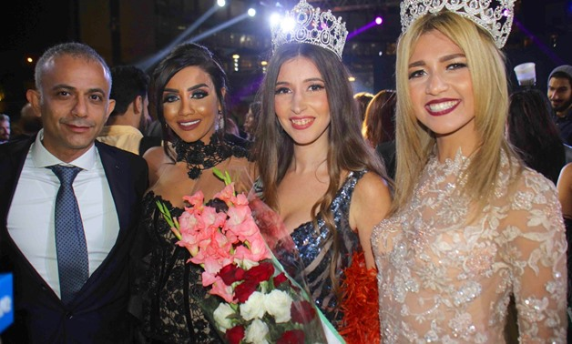 The ceremony was attended by the presenters Inas Al-Leithi, Mamdouh Al-Shennawi, Amal Rizk and the Miss World for Tourism and Environment - Photo by Egypt Today/ Mahmoud Hassaballah